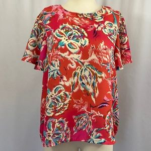 W5 floral bright top